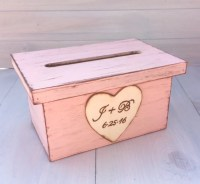 Wedding Card Box Program Holder Crate Rustic by