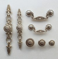 French Shabby Chic Dresser Drawer Pulls Handles / Antique
