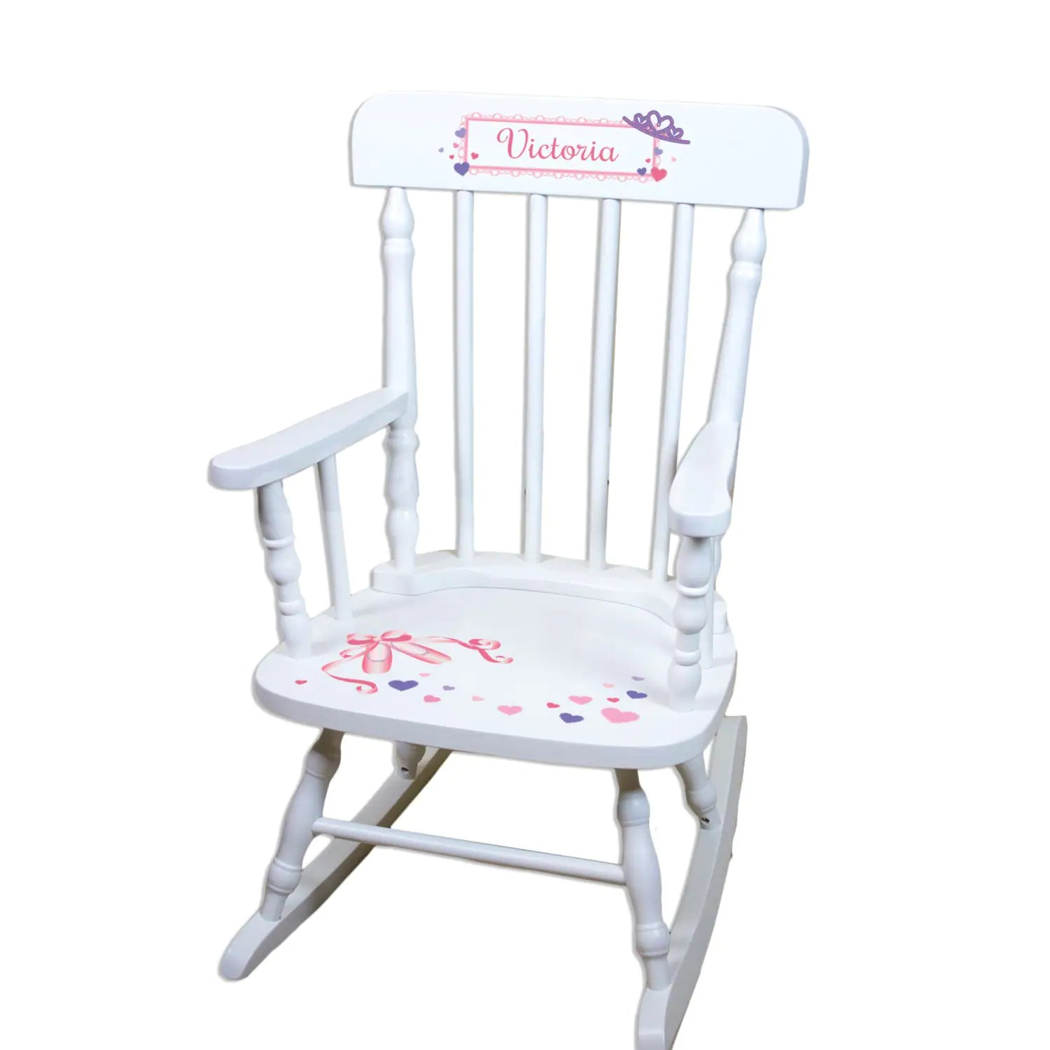Rocking Chair White Personalized White Rocking Chair Girls Custom Rocker W Name