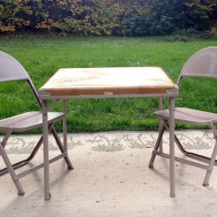 Metal Chairs And Table Heavy Duty Folding Lawn Canada Western Theme Child 39s Cowboy