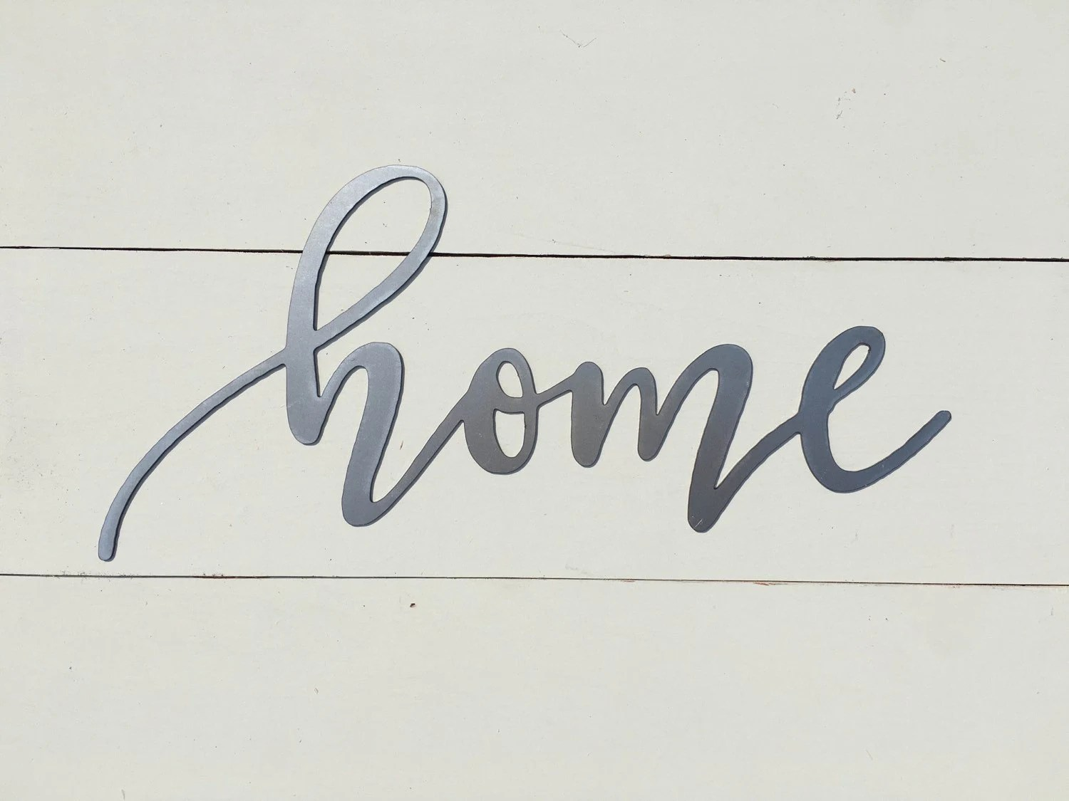 Home Metal Word Sign 14 5 X 7 Farmhouse Decor