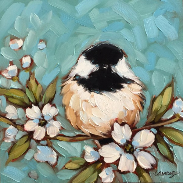 Chickadee Painting Original Oil Of