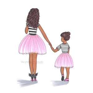daughter mother drawing mom ballerina drawings prints painting blossom