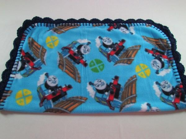 5 Thomas Train Fleece Baby Blanket