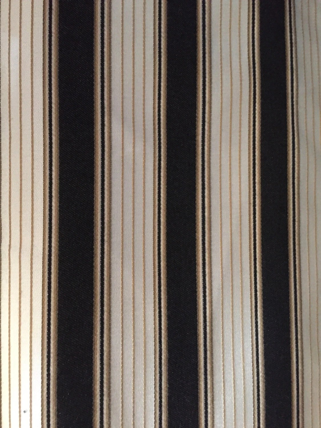 kitchen valences bosch black and tan stripe upholstery fabric by the yard