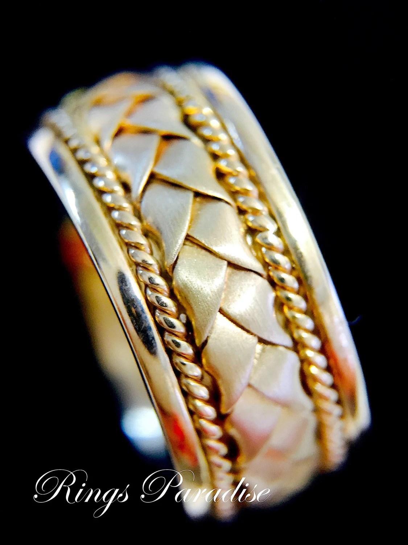 14k Gold Claddagh Ring Mens Women Scottish Ring Unique