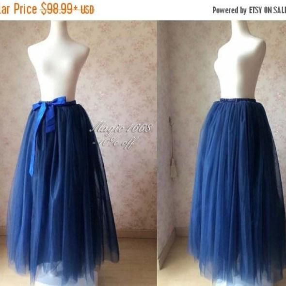 7b8d62b0196f Maxi Skirt in navy blue. Full Tulle Skirts. Women tutu skirt. Plus Size. Floor  Length Tutus. Navy Wedding. Bridal Skirt. Tutu with 7 layer