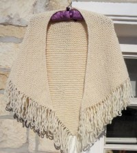Knitted shawl chunky knit wrap fringed shawl Multi wear
