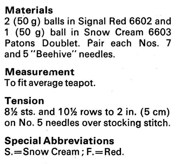 171 Vintage Knitting Pattern Tea and Egg Cosies Set