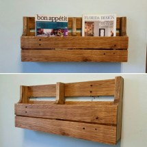 Reclaimed Pallet Wood 2 Pocket Organizer. Mail Holder File