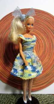 barbie doll crocheted party dress