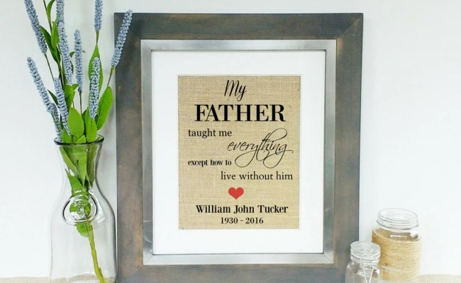 Personalized Father Dad Memorial Custom Tribute For Loss Of