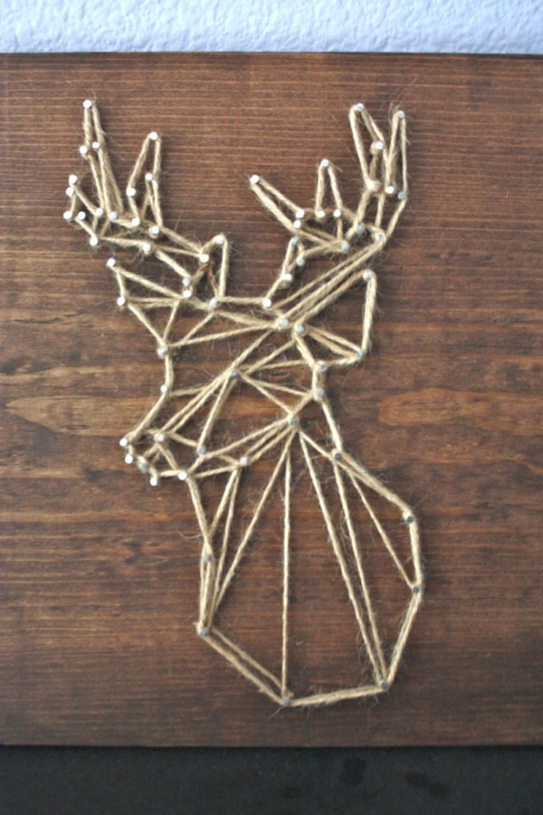 Deer Head String Art Geometric Animal Face And Strungbybrianne