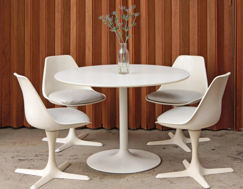 tulip dining room chairs best chair glider 4 burke swivel mid century
