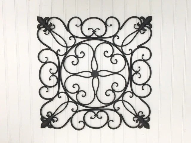 Outdoor Metal Wall Art/Faux Wrought Iron/French By