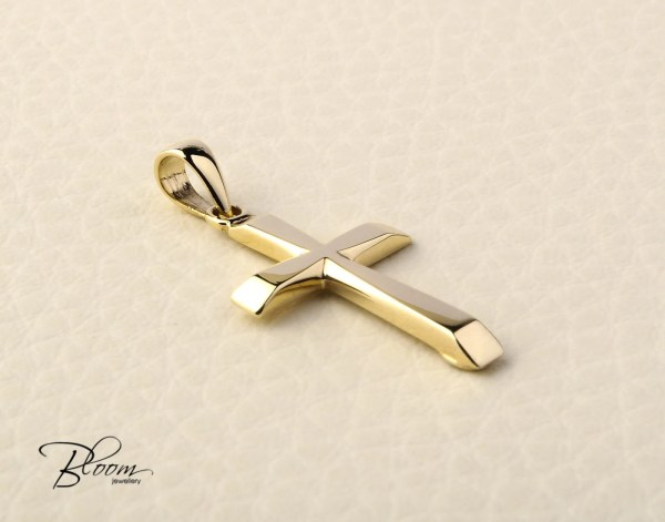 Solid Gold Cross Necklace 14k Pendant