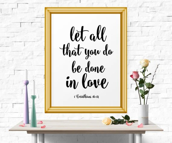 Download Inspirational Poster Let All That You Do Be Done In Love