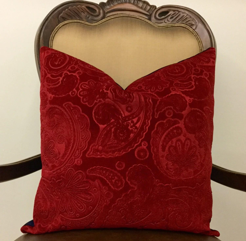 Red Velvet Pillow Red Pillows 16X16 Red Velvet by