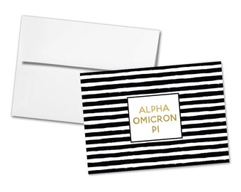 Items similar to Alpha Omicron Pi Lilly print painted