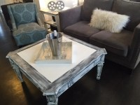 Distressed White/ Grey/Black Coffee Table Farm House Coffee