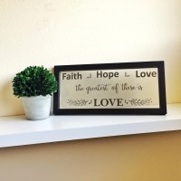 faith hope love wall decor - DriverLayer Search Engine