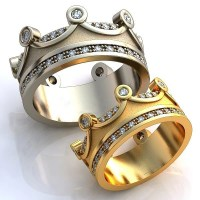 Crown Wedding Bands Crown Mens Band Crown Womens by ...