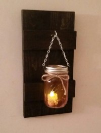 Rustic Wall Sconce With Ball Mason Jar and Battery ...