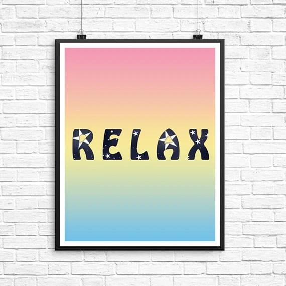 Relax Wall Print Relax Decor Print Relax by ChristineDigitalPics