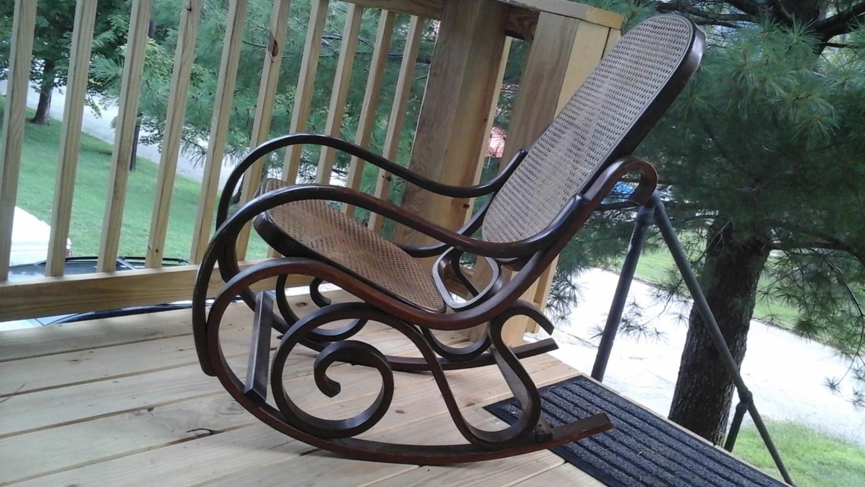 70s Bentwood Rocker Thonet Style Rocking Chair
