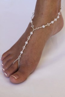 Barefoot Sandals Foot Jewelry Pearl And Crystal Design