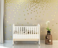 Metallic Gold Wall Decals Polka Dots Wall Decor 1