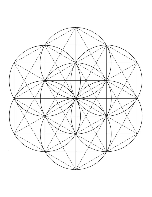Seed Of Life HexagonHexagram Crystal Grid Printable at home