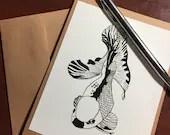 Koi Fish - Original Ink D...