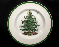 Vintage Spode Christmas Tree Dinner Plate