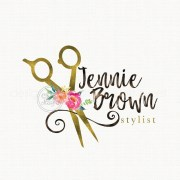 hair stylist logo beauty premade
