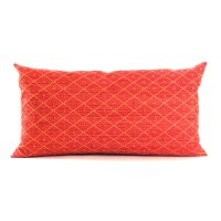 Lumbar Pillow Cover Red Throw Pillow Textured Diamond Chenille
