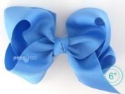 extra large hair bow sky blue