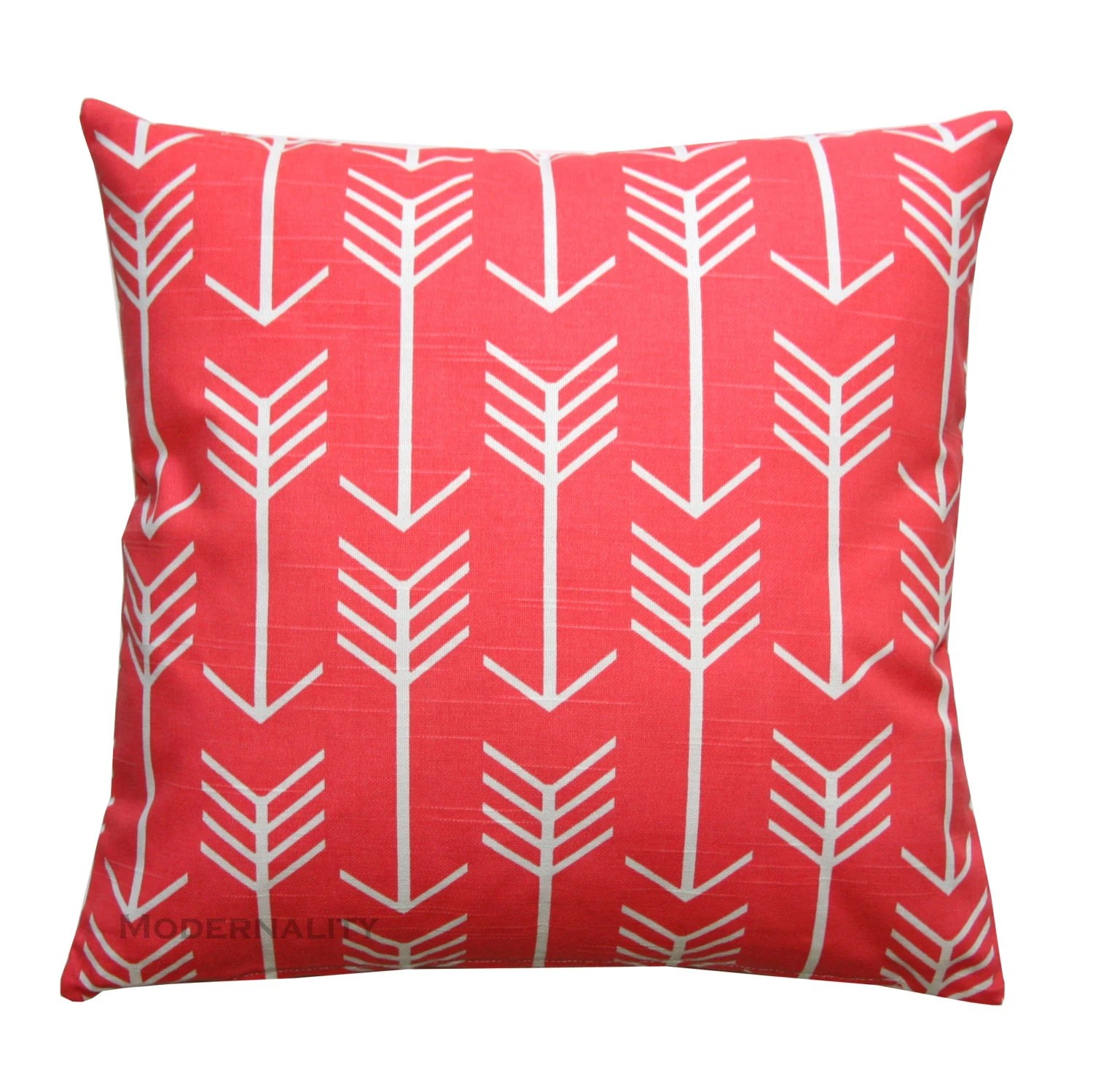 Accent Pillows Coral Arrow Pillow Cover by