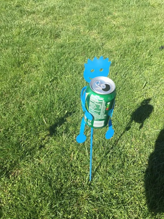 Drink holders for the yard blue by SCHROCKMETALFX on Etsy
