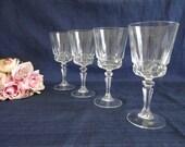 Four Crystal Wine Goblets...