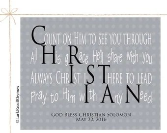 Boys Christening Personalized Baptism Gift For by