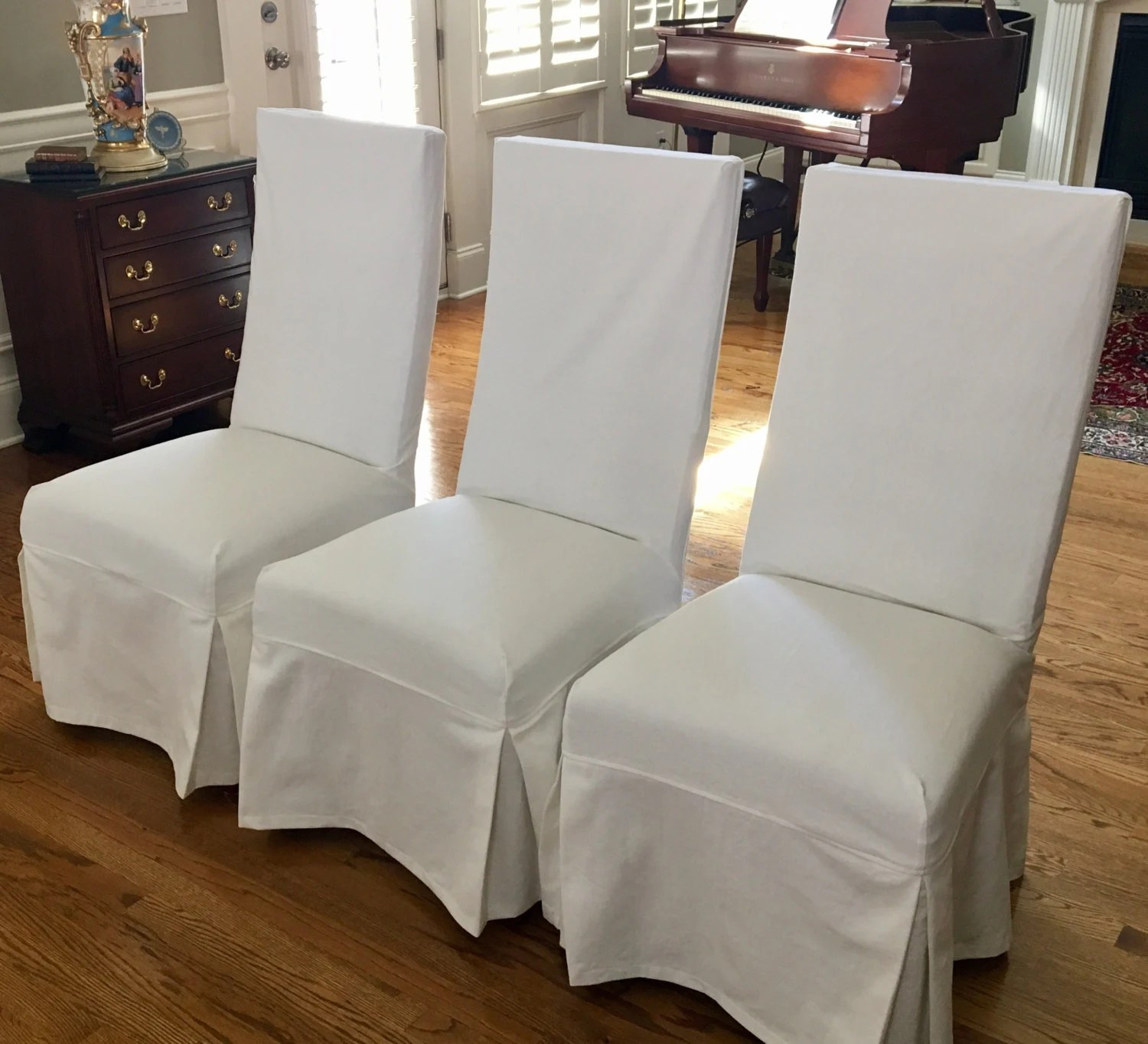 Custom Parsons Chair Slipcovers