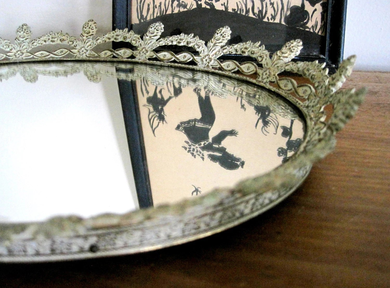 Vintage Mirror Tray Ornate Boudoir Gold By SharetheLoveVintage