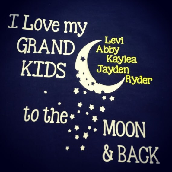 Download I love my grandkids to the moon and back personalized shirts