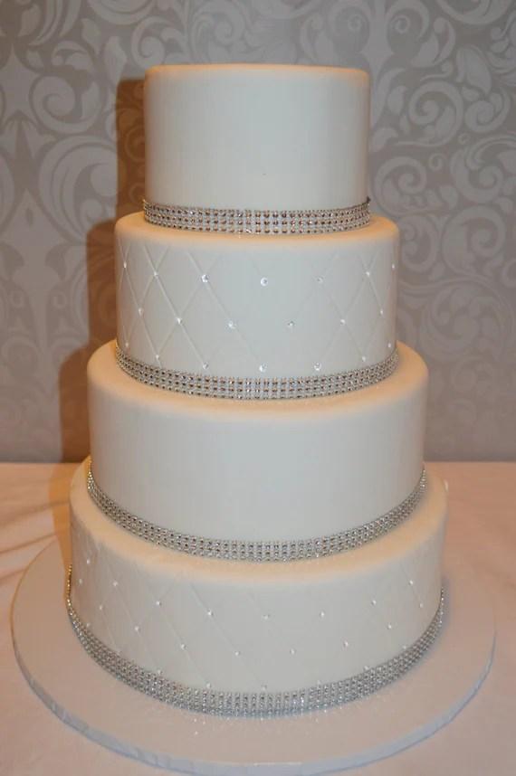 Four Tier Fondant Faux Wedding Cake Fake Wedding Cake
