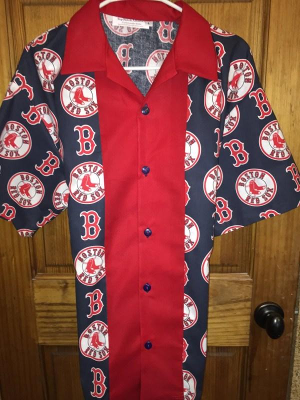 Boston Red Sox Retro Bowling Shirt