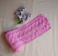 Pink lace shawl: Knit lace pattern scarf Airy soft by