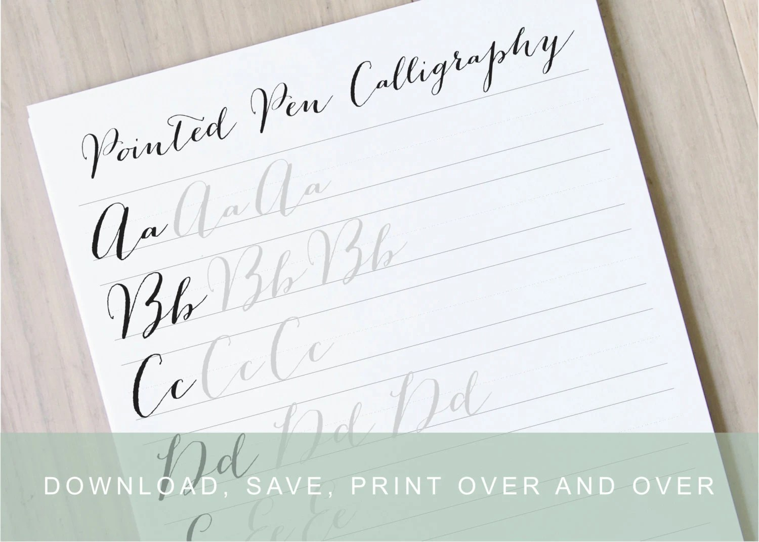 Pointed Pen Calligraphy Worksheet Bouncy Modern