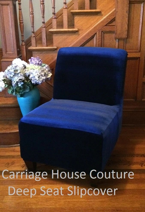 brown slipper chair elastic seat covers slipcover navy blue velvet stretch cover for armless