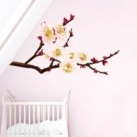 Sakura Flower Wall Decal Tree Full Color Sticker Colorful